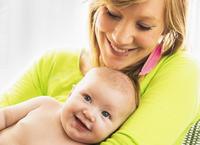 母と赤ちゃんのポートレート