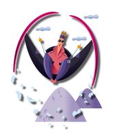 ジャンプをするスキーヤー 11023012235| 写真素材・ストックフォト・画像・イラスト素材|アマナイメージズ