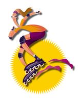 インラインスケートをする若い女性 11023012242| 写真素材・ストックフォト・画像・イラスト素材|アマナイメージズ
