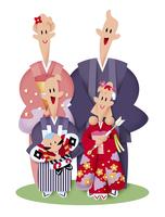家族の正月イメージ 11023012254| 写真素材・ストックフォト・画像・イラスト素材|アマナイメージズ