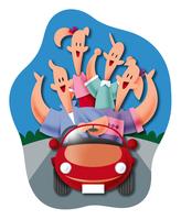 ドライブをする家族 11023012259| 写真素材・ストックフォト・画像・イラスト素材|アマナイメージズ