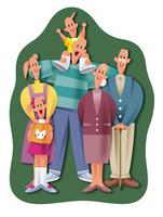 笑顔の三世代家族 11023012260| 写真素材・ストックフォト・画像・イラスト素材|アマナイメージズ