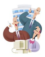 オフィスビルとビジネスパーソン 11023012263| 写真素材・ストックフォト・画像・イラスト素材|アマナイメージズ