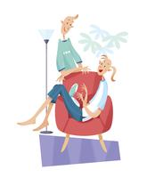 くつろぐカップル 11023012271| 写真素材・ストックフォト・画像・イラスト素材|アマナイメージズ