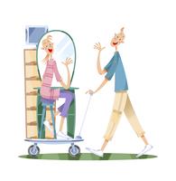 引っ越しをするカップル 11023012274| 写真素材・ストックフォト・画像・イラスト素材|アマナイメージズ