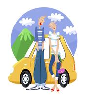 ドライブをするカップル 11023012282| 写真素材・ストックフォト・画像・イラスト素材|アマナイメージズ