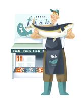魚屋 11023012296| 写真素材・ストックフォト・画像・イラスト素材|アマナイメージズ