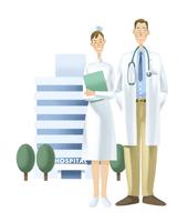 看護師と医師 11023012297| 写真素材・ストックフォト・画像・イラスト素材|アマナイメージズ