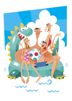 海水浴 11023012309| 写真素材・ストックフォト・画像・イラスト素材|アマナイメージズ