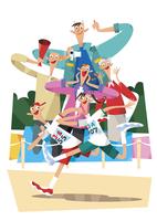 運動会 11023012311| 写真素材・ストックフォト・画像・イラスト素材|アマナイメージズ