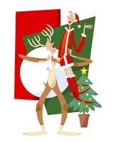クリスマスに仮装するカップル