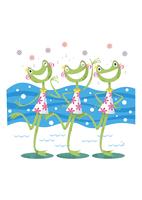 歌う3匹のカエル