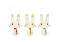 3匹のウサギ