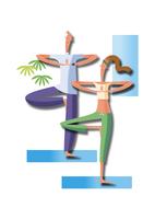 ヨガをするカップル 11023012427| 写真素材・ストックフォト・画像・イラスト素材|アマナイメージズ