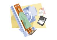健康診断を受ける男性 11023012450| 写真素材・ストックフォト・画像・イラスト素材|アマナイメージズ