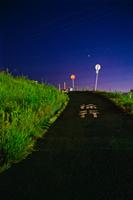 夜空と標識