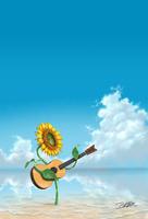 夏の弾き語り 11023020442| 写真素材・ストックフォト・画像・イラスト素材|アマナイメージズ