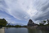 雲の松本城