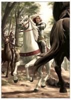 敵に襲われ戦うジェレイント(ジェレイントとエニド7) 11023022544| 写真素材・ストックフォト・画像・イラスト素材|アマナイメージズ