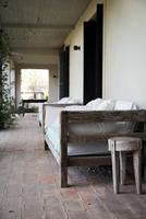 Couch on veranda
