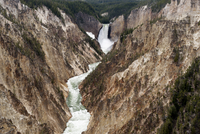 Grand Canyon of Yellowstone River and Lower Yellowstone Falls, Yellowstone National Park, Wyoming, USA