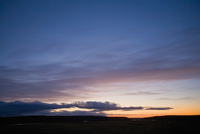 Sun setting over Nyidalur, Iceland