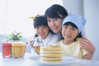ホットケーキと母娘