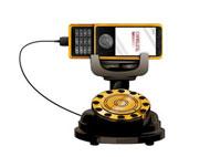 アナログ電話と携帯電話 11026004915| 写真素材・ストックフォト・画像・イラスト素材|アマナイメージズ