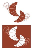 クロワッサンのマーク 11026007189| 写真素材・ストックフォト・画像・イラスト素材|アマナイメージズ