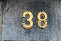 Number 38 on wall