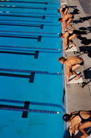Swimmers set to start race