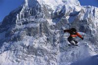 Skier in midair