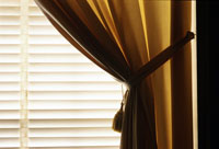 Curtain and venetian blinds