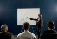 Girl making a business presentation