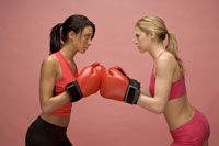 Female boxers ready to fight