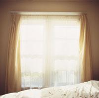 Sunlight coming through curtains