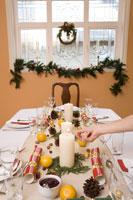 Table set for Christmas dinner 11029003177| 写真素材・ストックフォト・画像・イラスト素材|アマナイメージズ
