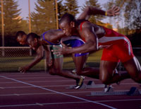 African male athletes racing