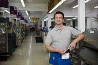 Male employee in hardware store