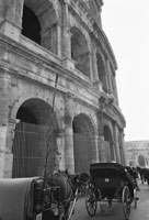 Carriages outside Roman Coliseum