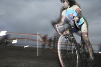 Athlete riding bicycle in race 11029004927| 写真素材・ストックフォト・画像・イラスト素材|アマナイメージズ