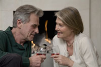 Couple with wine by fireplace 11029006341| 写真素材・ストックフォト・画像・イラスト素材|アマナイメージズ