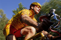 Male cyclist riding road bicycle 11029007557| 写真素材・ストックフォト・画像・イラスト素材|アマナイメージズ