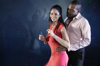 Man and woman dancing at nightclub