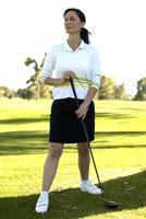 Female golfer 11029010075| 写真素材・ストックフォト・画像・イラスト素材|アマナイメージズ