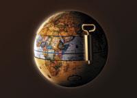 Can opener opening globe
