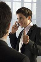 man talking on cell phone 11029010970  写真素材・ストックフォト・画像・イラスト素材 アマナイメージズ