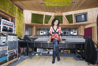 Recording artist sitting