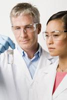 ethnic scientists examining