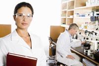 scientist wearing protective eyewear